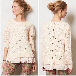 Anthropologie Lili's Closet Layered Sweater L